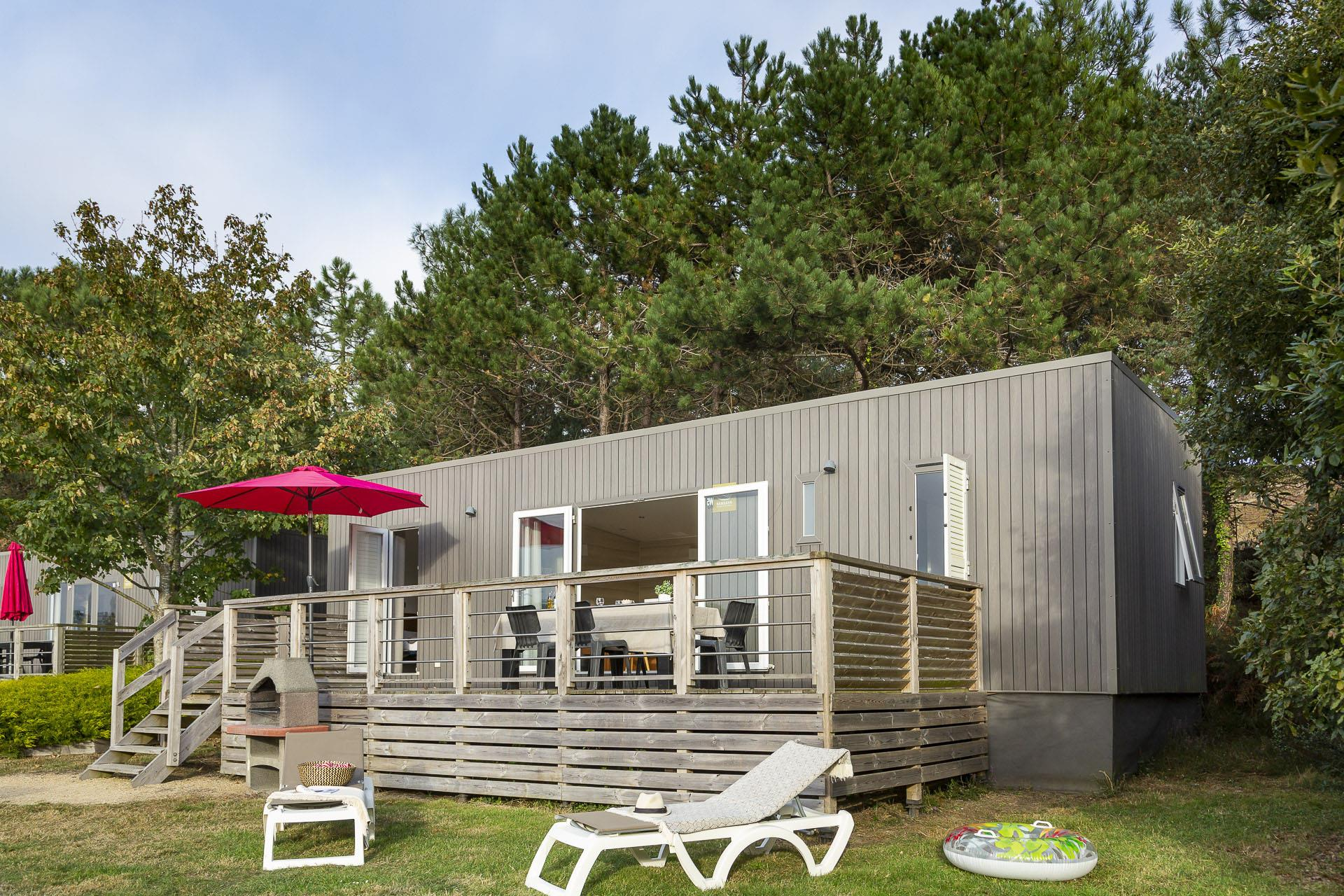 Location - Cottage Grand Large 2 Chambres Premium - Camping Sandaya Le Ranolien