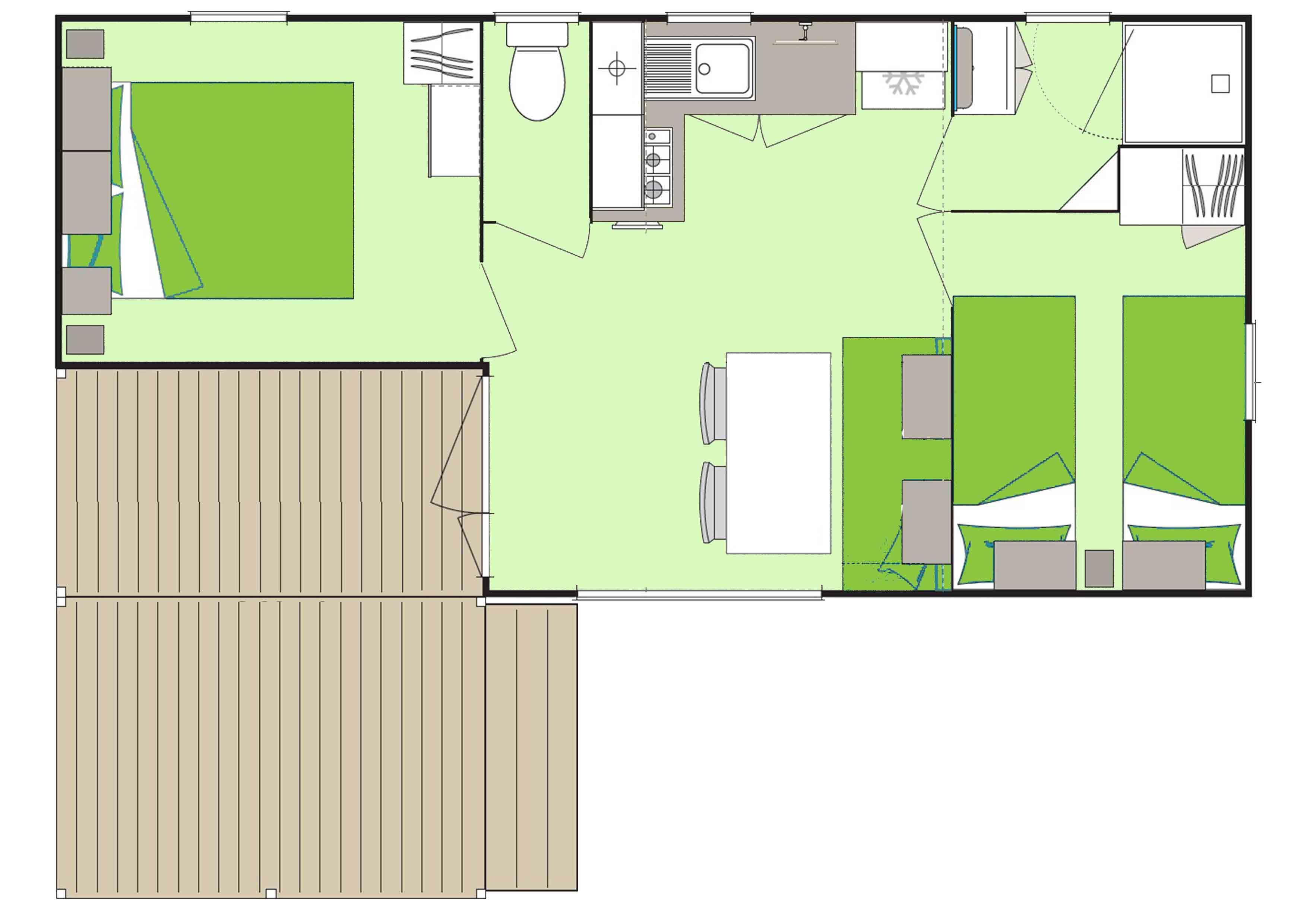 Location - Cottage *** (2 Chambres) - Yelloh! Village La Plage