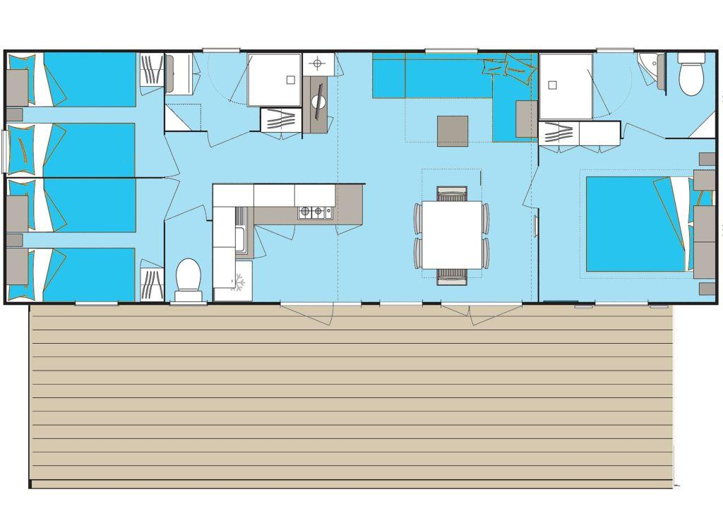 Location - Cottage **** (3 Chambres, 2 Salles De Bain) - Yelloh! Village La Plage