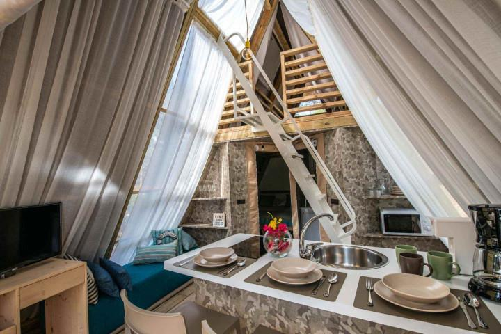 Location - Tente Lodge 2 Chambres - Arena One 99 Glamping