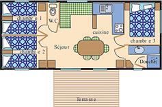 Location - Cottage Bretagne *** 3 Chambres - Yelloh! Village Port de Plaisance