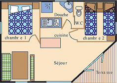 Location - Chalet Détente *** 2 Chambres - Yelloh! Village Port de Plaisance