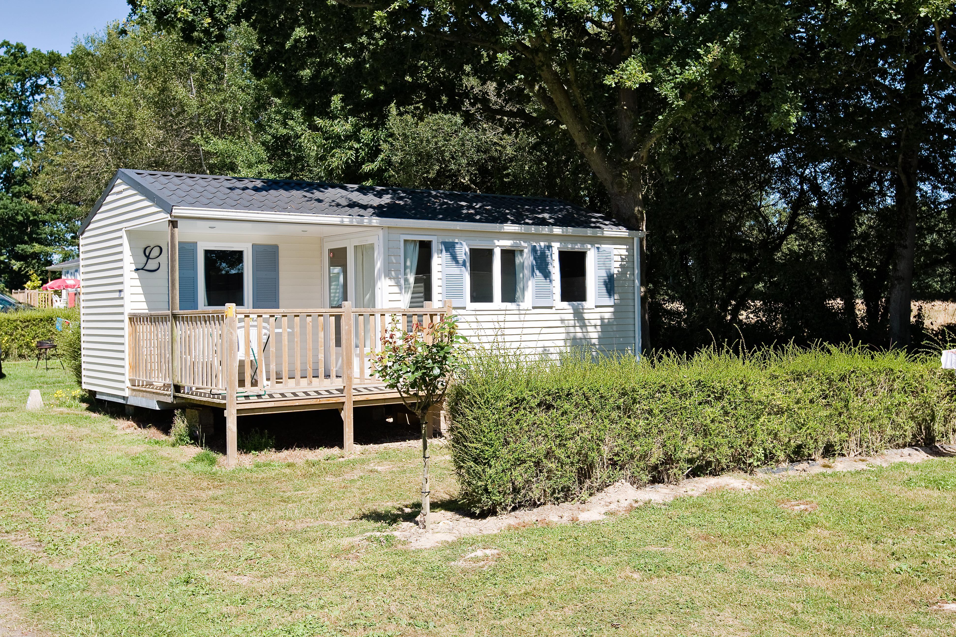 Location - Mobile Home 2 Chambres -1  Salle D'eau -Terrasse En Bois Couverte Avec Tv (Chaînes Françaises) - Camping Castel Château de Galinée