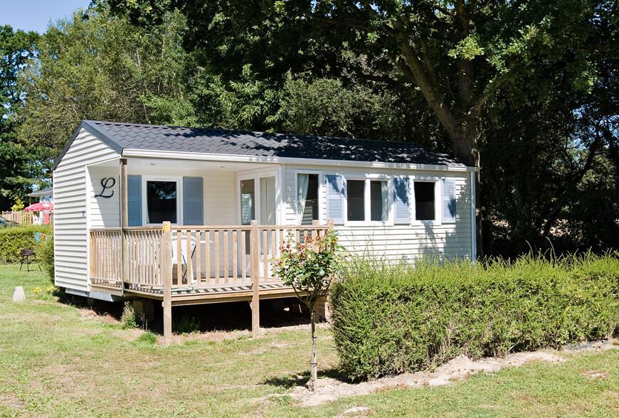 Location - Mobile Home 2 Chambres - 1 Salle D'eau - Terrasse En Bois Couverte - Camping Castel Château de Galinée