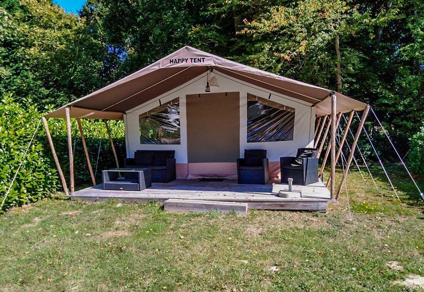 Location - Happy Tente  5Personnes - Camping Castel Château de Galinée