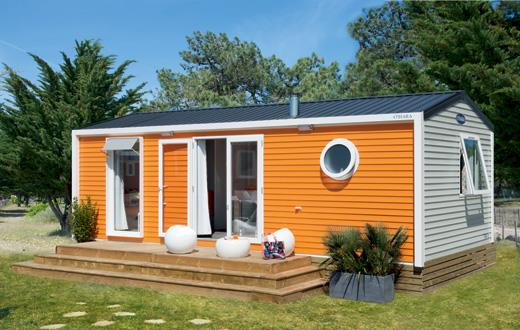 Location - Mobil-Home Premium 32M² - 2 Chambres - Climatisé - Camping Le Rochelongue