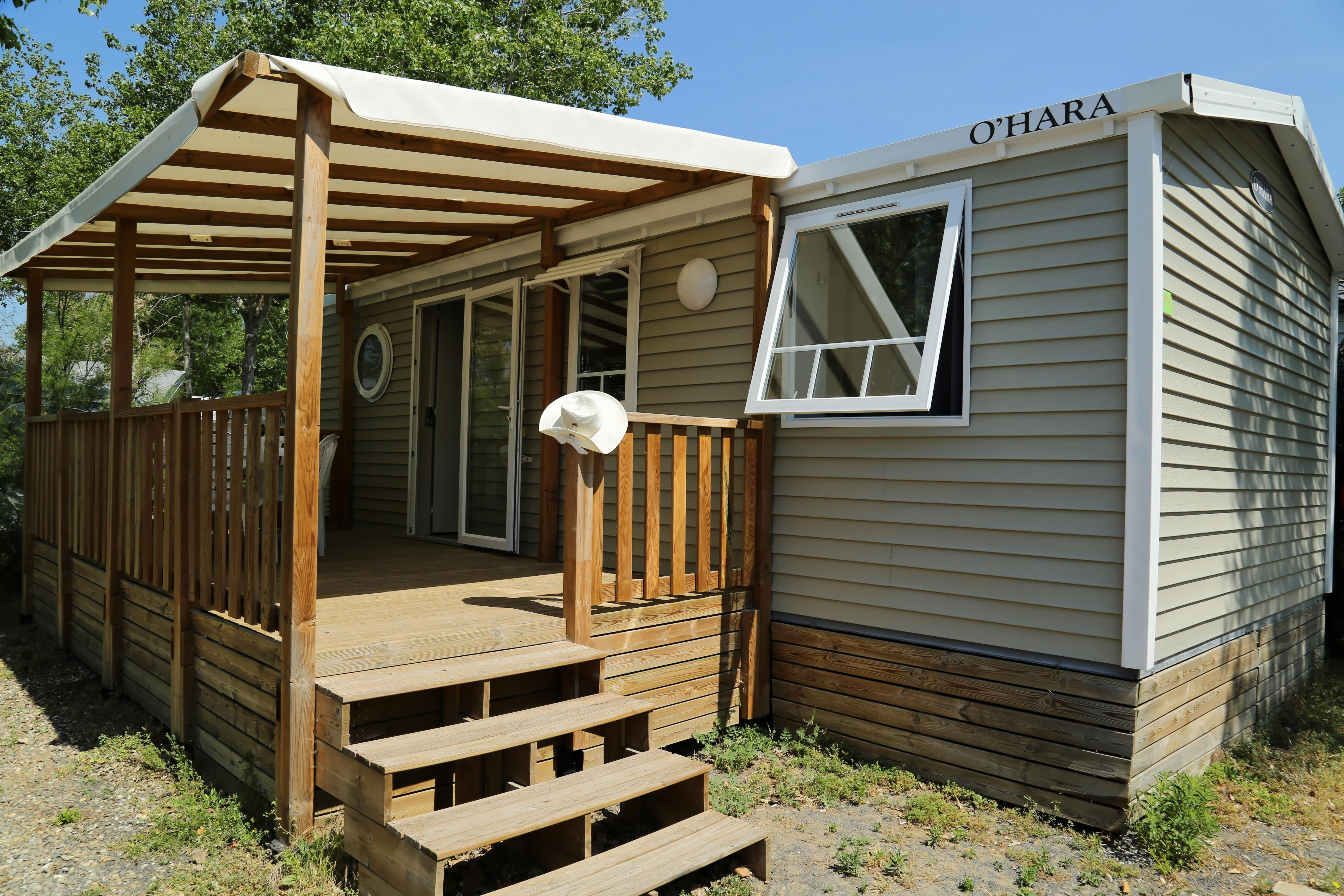 Location - Mobil-Home Confort 28M² - 3 Chambres - Camping Le Rochelongue