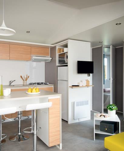 Location - Mobil-Home Premium 33M² - 3 Chambres - Climatisé - Camping Le Rochelongue