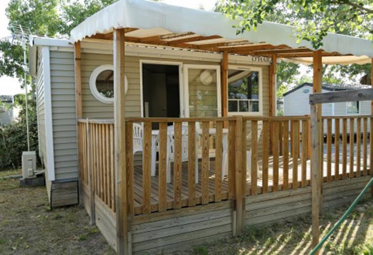Location - Mobil-Home Confort Plus 18M² - 1 Chambre + Clim - Camping Le Rochelongue