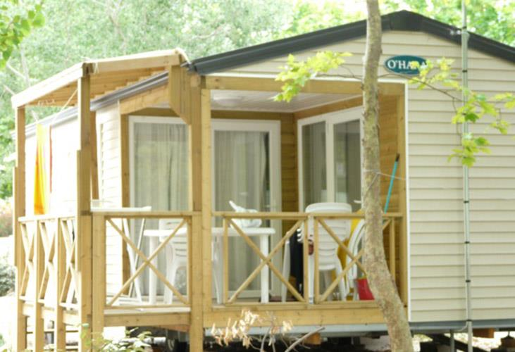 Location - Mobil-Home Confort Plus 24M² - 2 Chambres - Climatisé - Camping Le Rochelongue