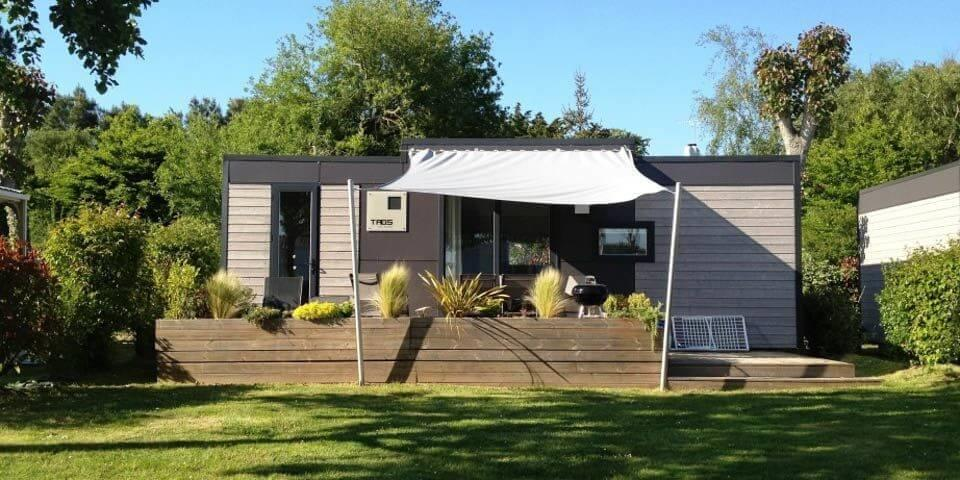 Location - Mobil-Home Mediterranee - 2 Chambres - Camping Les Iles