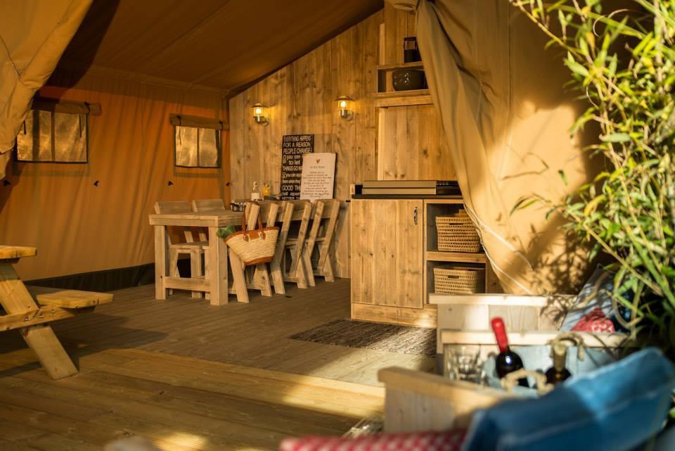 Location - Safari Lodge - Tente De Luxe - 2 Chambres - Zone Sans Voitures - - Camping Domaine Lacs de Gascogne