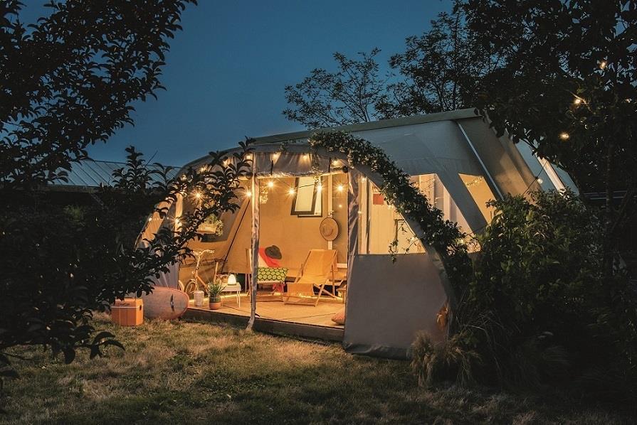 Location - Coco Bohème - 2 Chambres - Sanitaires Communs À Proximité - Zone Sans Voitures - - Camping Domaine Lacs de Gascogne