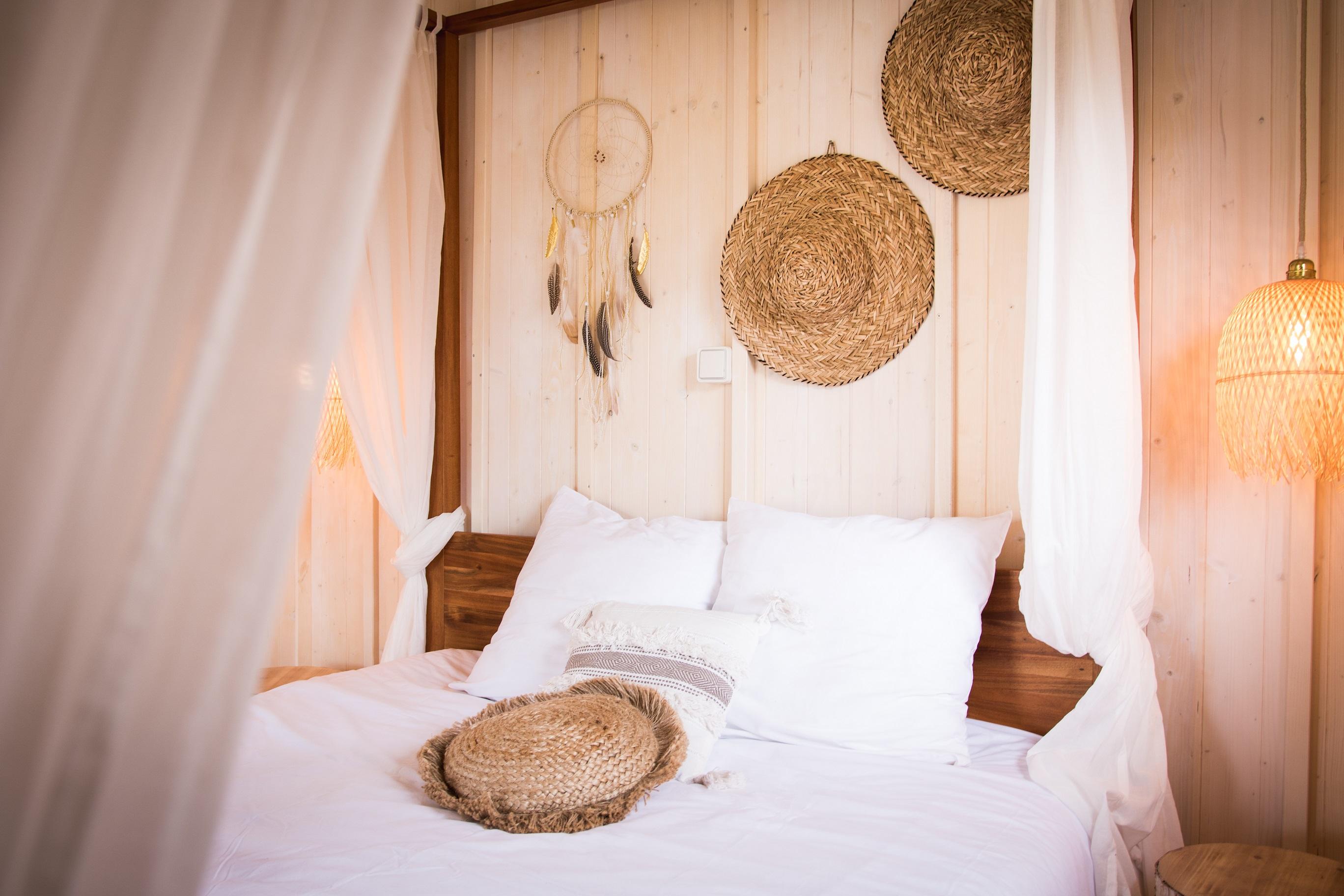 Location - Cabane Chic Lacustre Sur Pilotis Avec Jacuzzi Privatif Cyclades - Camping Domaine Lacs de Gascogne