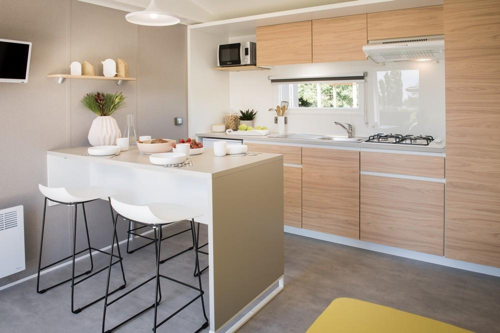HETRE. Mobil Home 4 pers. 33 m²