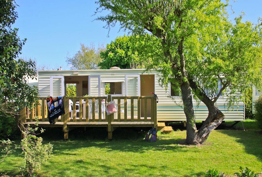 Location - Mobil Home 24M² - 2 Chambres - Camping Sites et Paysages du Pouldu