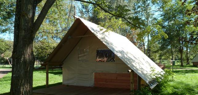 Location - Tente Toile Et Bois (Pmr) - Camping Nid du Parc