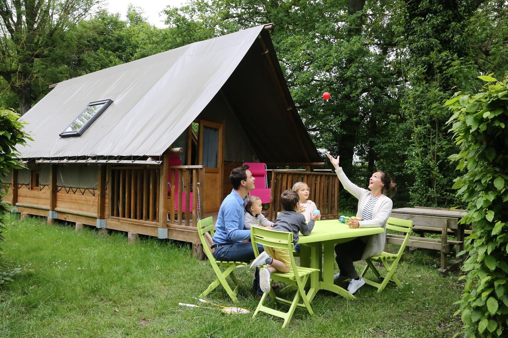 Location - Tente Lodge Toile Et Bois - Camping Nid du Parc
