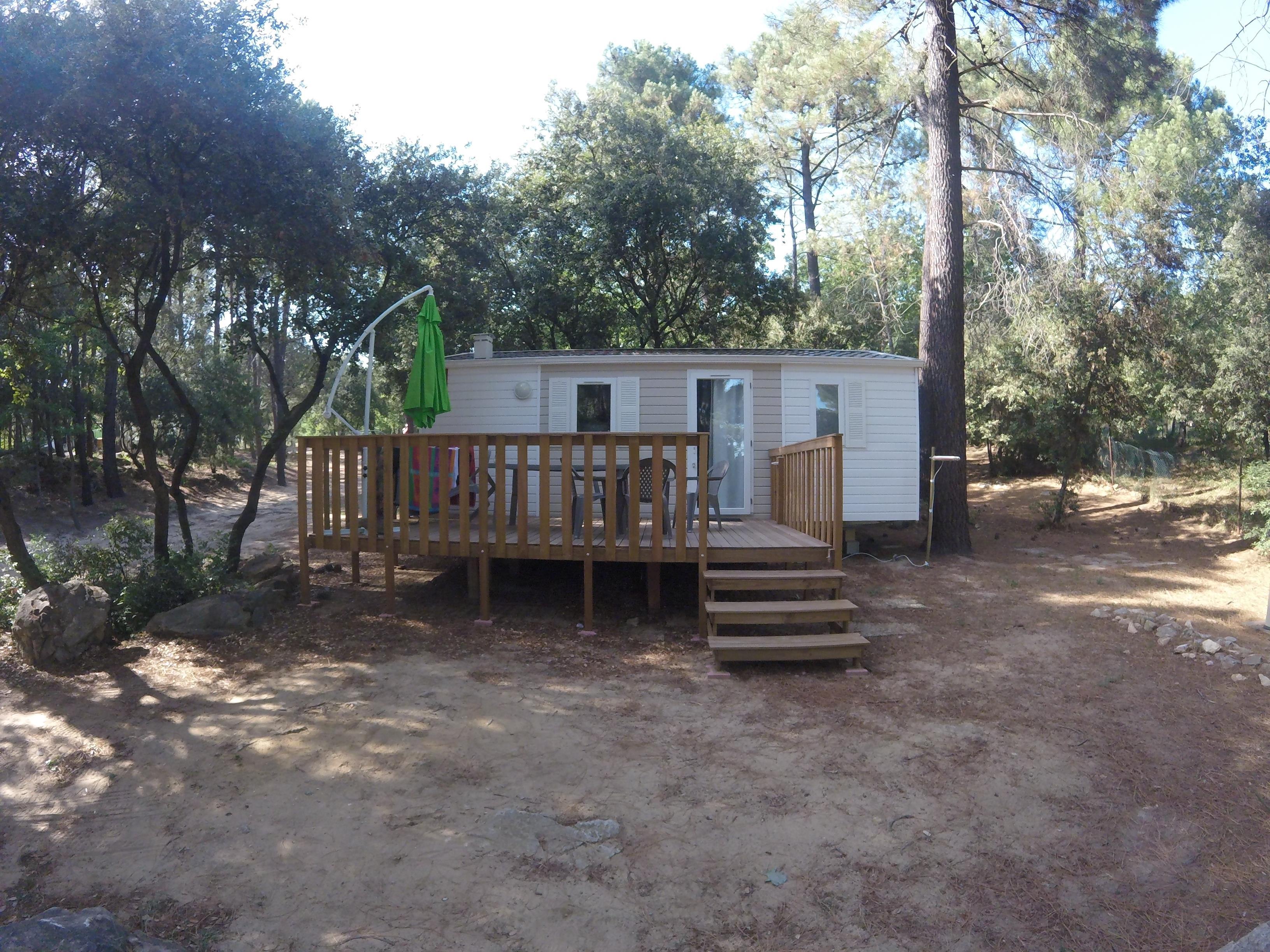 Location - Mobil-Home Provence Climatisé -2 Chambres (Récent= Moins De 5 Ans) - Camping La Simioune