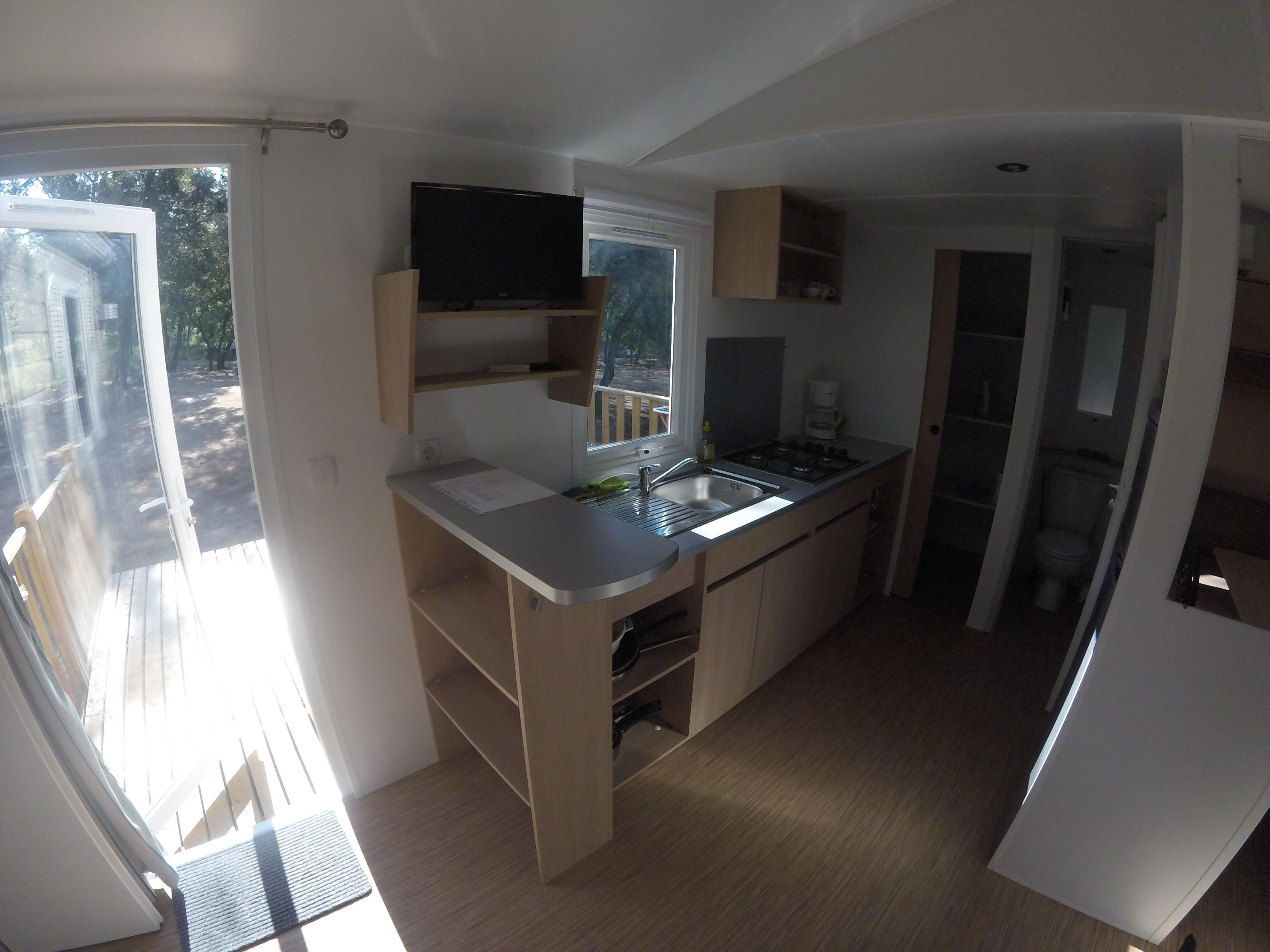 Location - Mobil-Home Provence Climatisé -2 Chambres  + Tv - Camping La Simioune