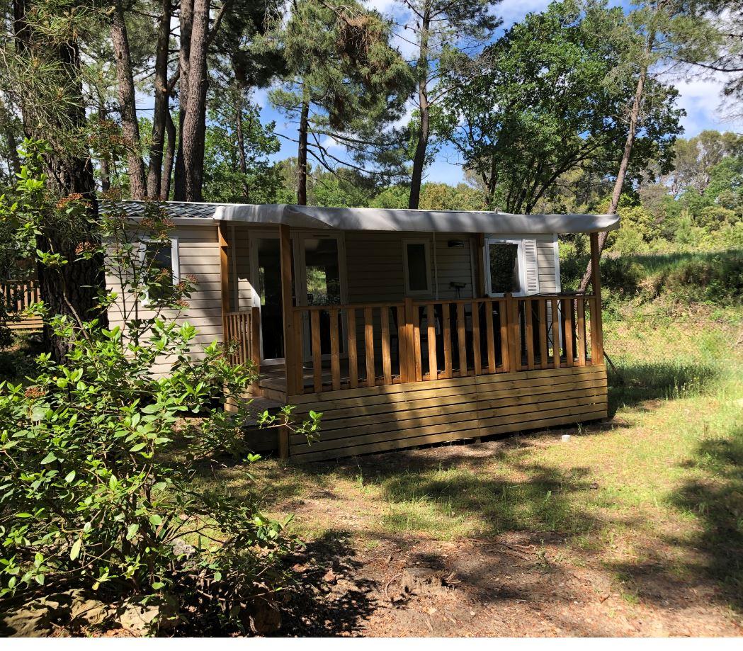 Location - Mobilhome Coquelicot Climatisé- 3 Chambres Climatisé -(4 Adultes Max+2 Enfants) + Tv - Camping La Simioune