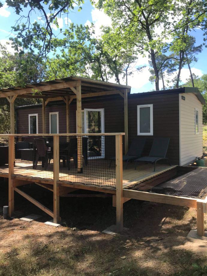 Location - Mobilhome Premium Montmirail Climatisé- 3 Chambres (4 Adultes Max+2 Enfants) + Lave-Vaisselle + Tv - Camping La Simioune
