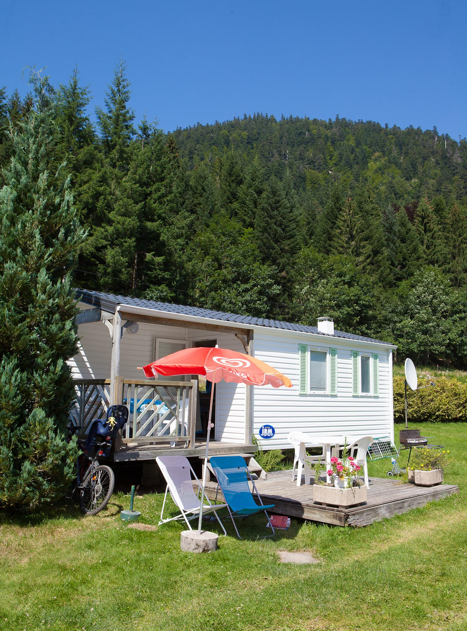Location - Eco Mobil-Home 24 M² (2 Chambres) + Terrasse Intégrée - 2003 - Flower Camping Verte Vallee