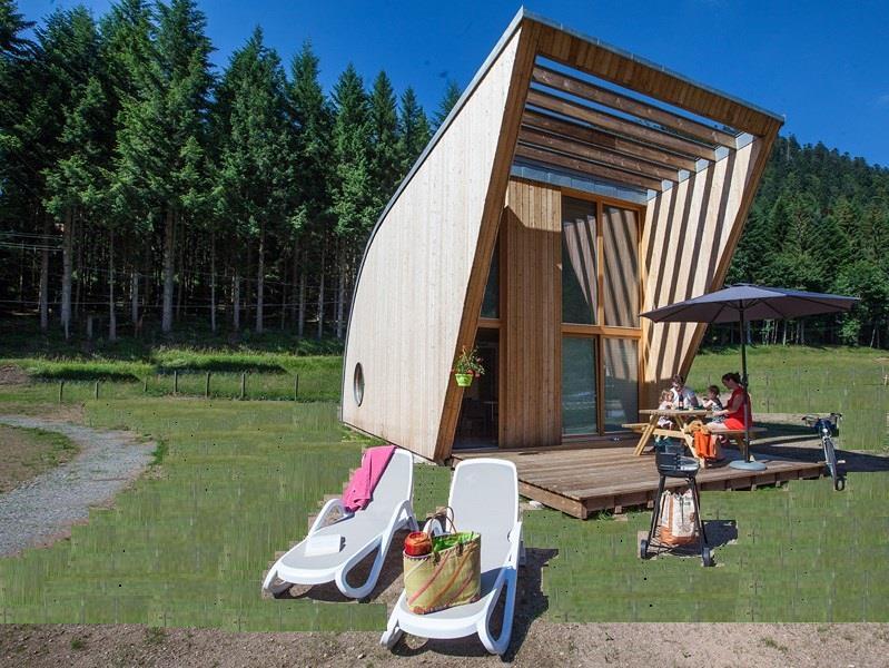 Location - Premium Chalet Eco-Lodge 42M² + Terrasse - 2015 - Flower Camping Verte Vallee