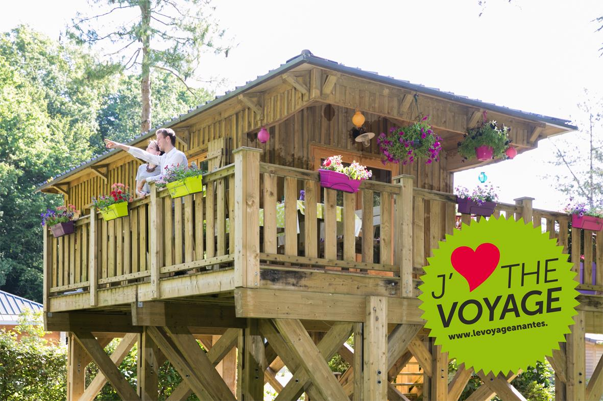 Location - La Cabane Du Voyage - Cabane Sur Pilotis 1 Chambre - 24M² + Terrasse 16M² - Nantes Camping