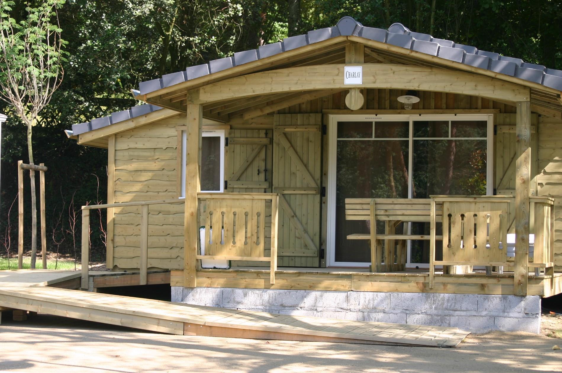 Location - Chalet Muscadet 2 Chambres - Adapté Aux Personnes À Mobilité Réduite - 35M² - Nantes Camping