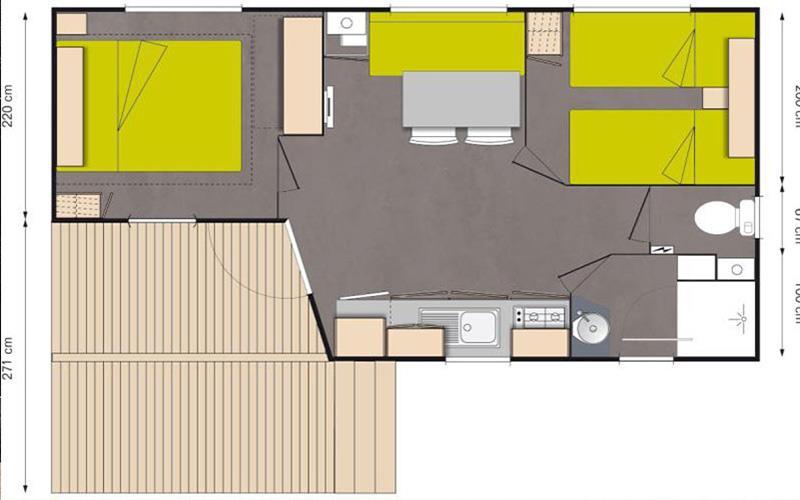 Mobil Home O'hara - Mv2 - 2 Chambres