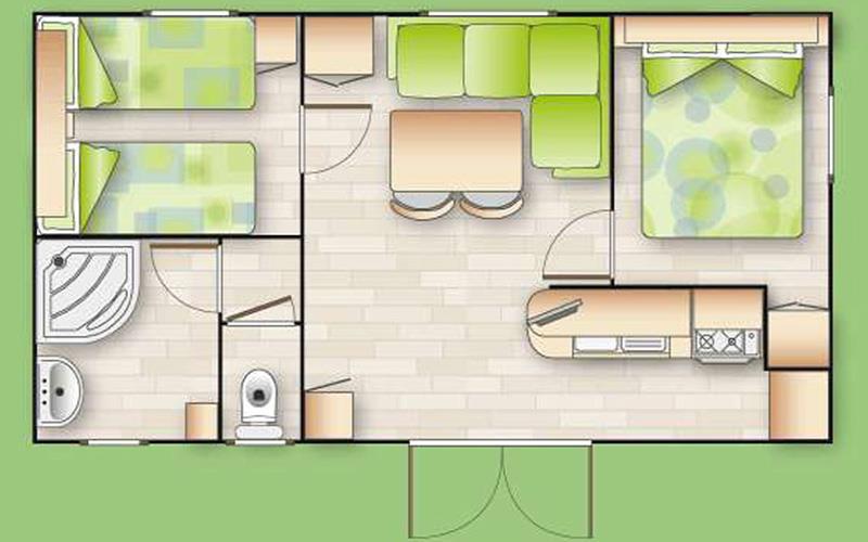 Mobil Home Espace - Mv3 Colorado - 2 Chambres