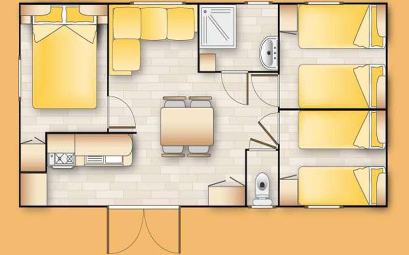 Mobil Home - Mv4 Orégon - 3 Chambres