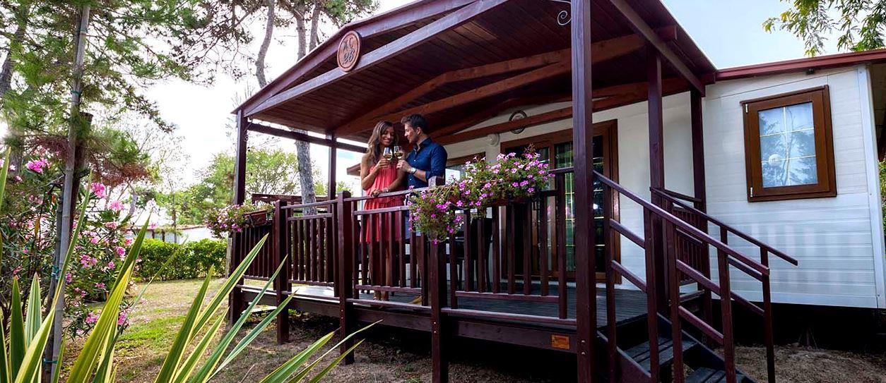 Location - Mobil Home Maxi Caravan - Camping Pino Mare