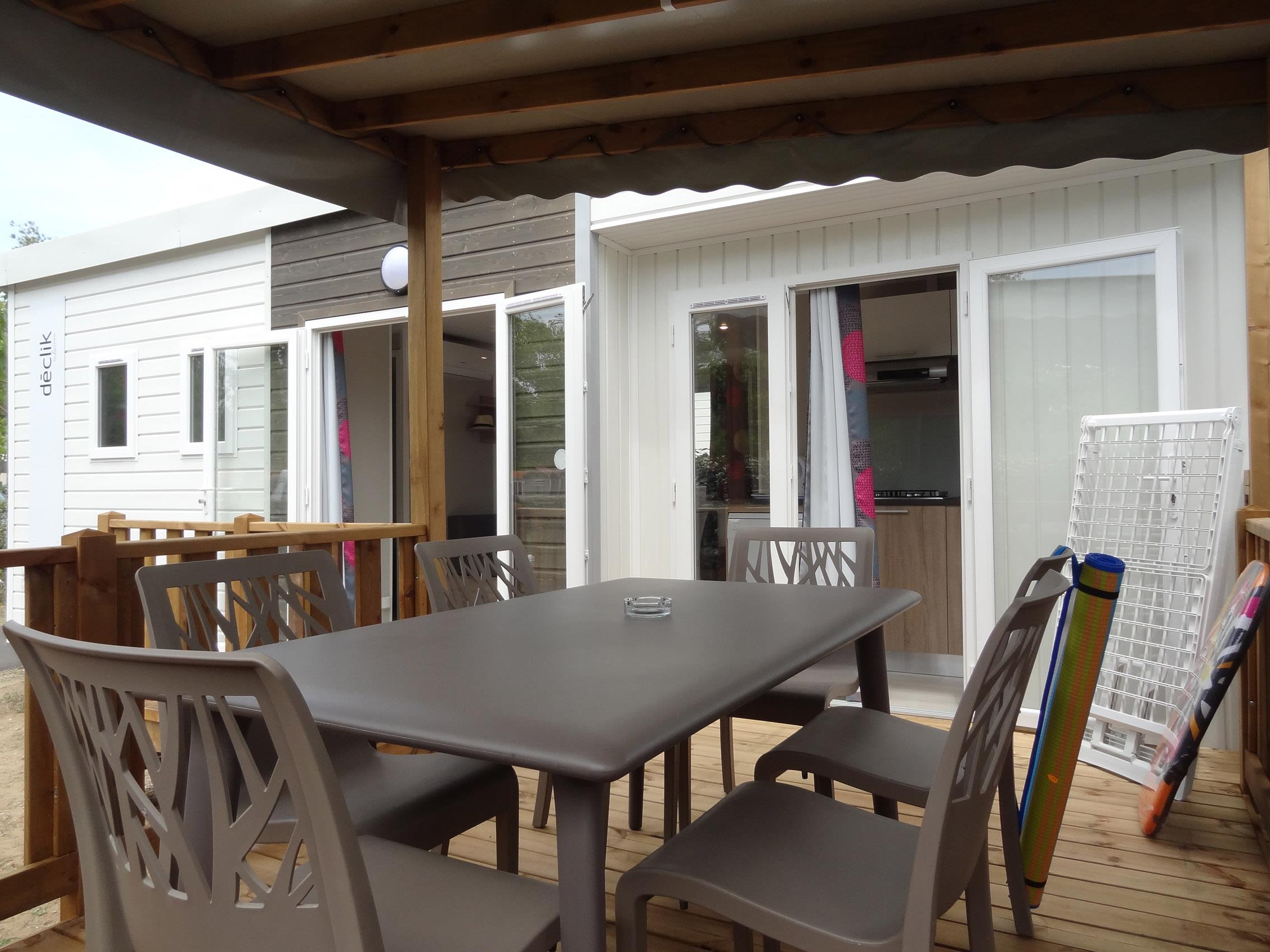 Mobil-home Confort + Declick Premium 32 m² - Clim/TV et lave-vaisselle - Samedi