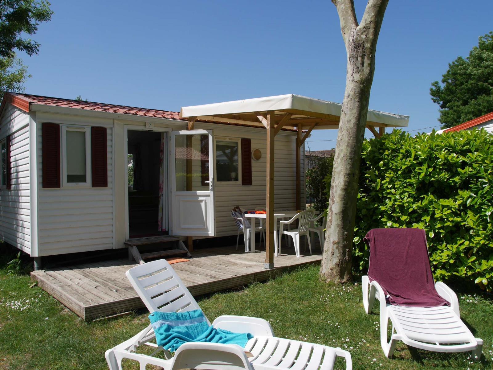 Location - Mobil-Home Super Venus 24M² Dim - Camping de la Gères