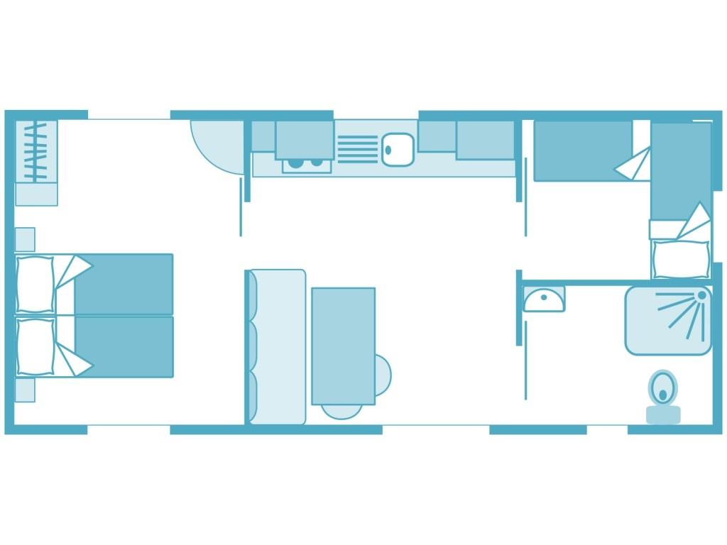 Location - Cottage Pmr 2 Chambres *** - Yelloh! Village Belle Plage