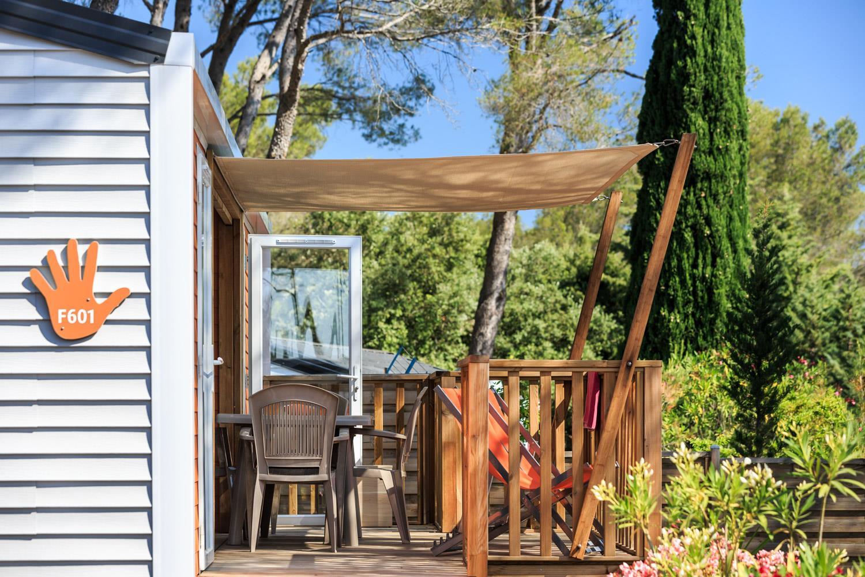 Location - Cottage Patchwork Prestige 34 M² - 2 Chambres + 2 Salles De Bains +  Clim Et Tv - Camping Holiday Green