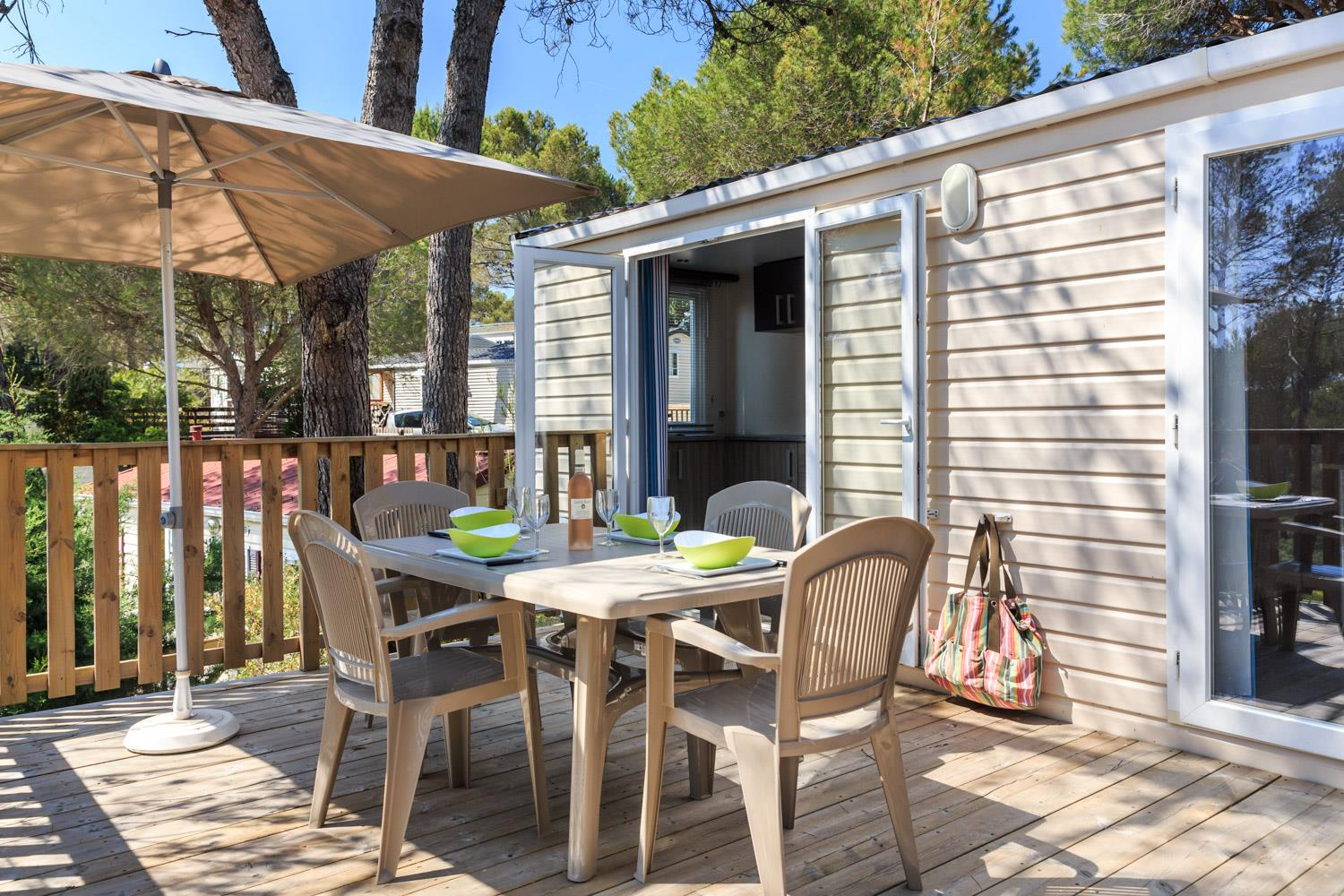 Location - Cottage Plus 28 M² - 2 Chambres + Climatisation - Camping Holiday Green