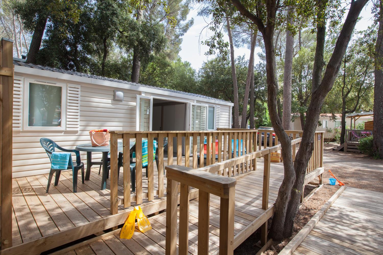 Location - Cottage Handi Confort 32 M² - 2 Chambres + Climatisation / Adapté Aux Personnes À Mobilité Réduite - Camping Holiday Green
