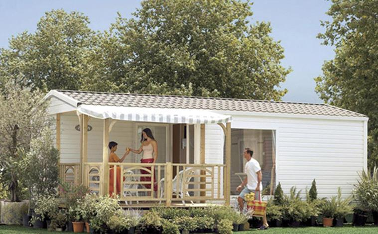Location - Mobil-Home 2 Chambres - Camping L'Aloua