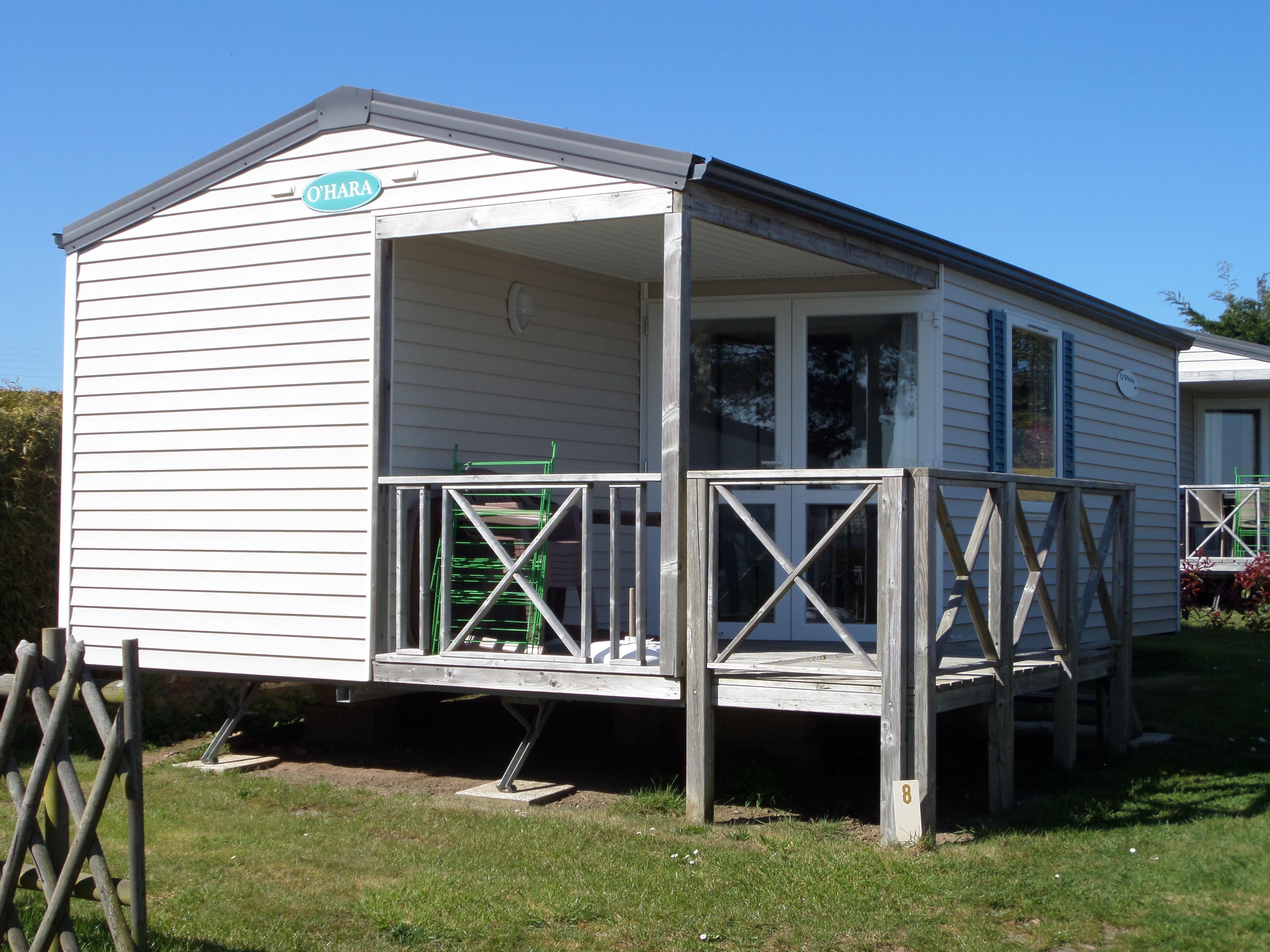 Mobil-home OPHEA 30 m² / 2 chambres - Terrasse couverte petite vue à grande vue mer