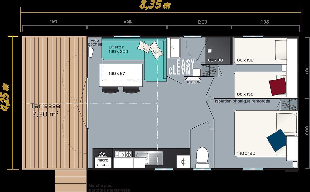 Casa Mobile Loggia 35M² (2 Camere)