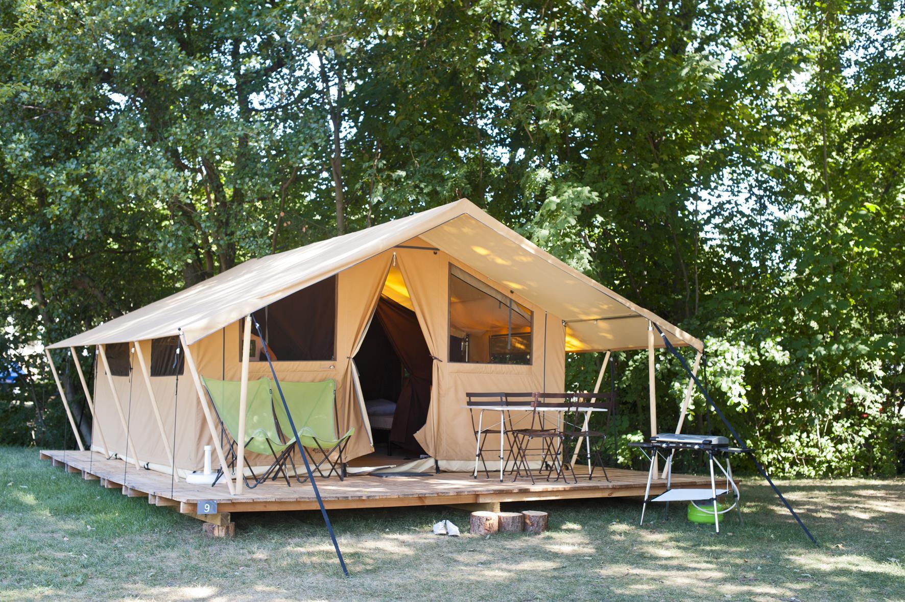 Location - Tente Toile & Bois Classic Iv - Camping De l'ill - Colmar