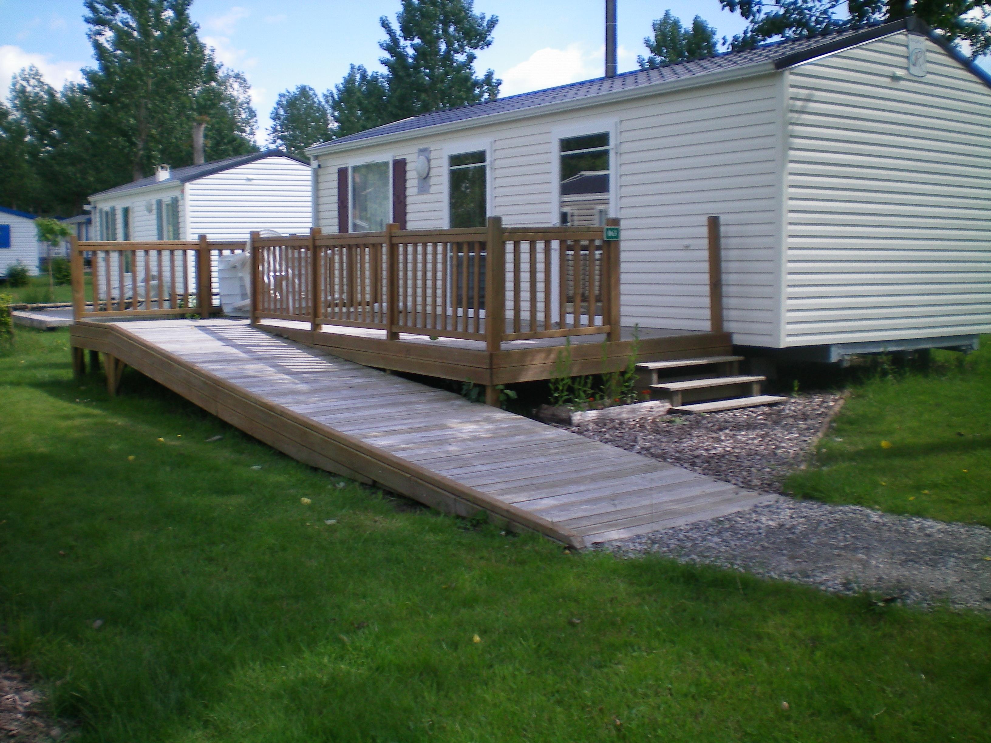 CONFORT+ Mobilhome 2 chambres 31m² - Equipé pour personne à mobilité réduite + terrasse