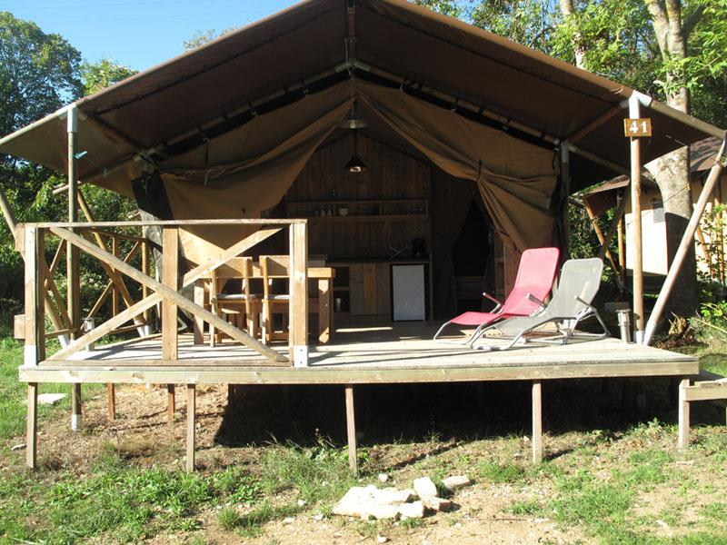 Location - Tente Lodge Luxe - Camping les Chamberts