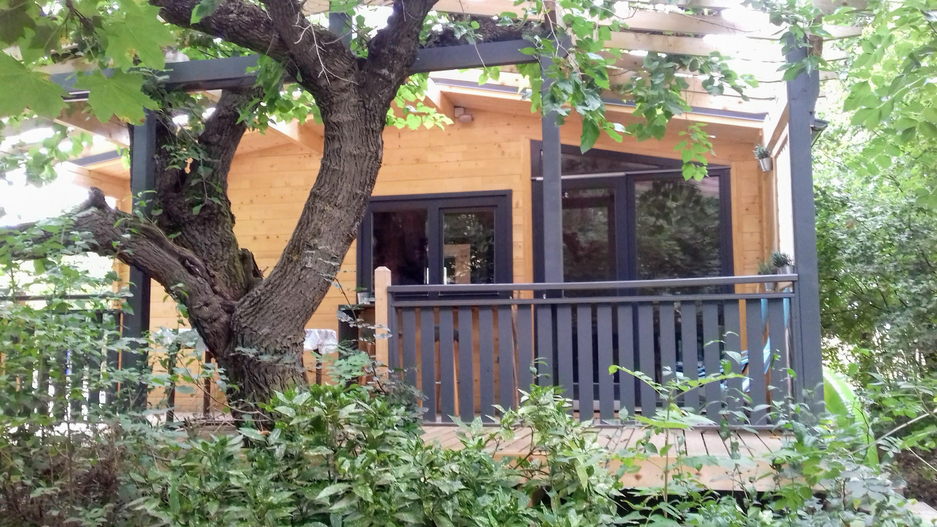 Location - Chalet En Bois Grand Confort Luxe - Camping les Chamberts