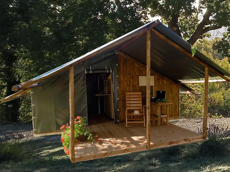 Location - Cabane Cosy Nature Toile & Bois - Camping les Chamberts