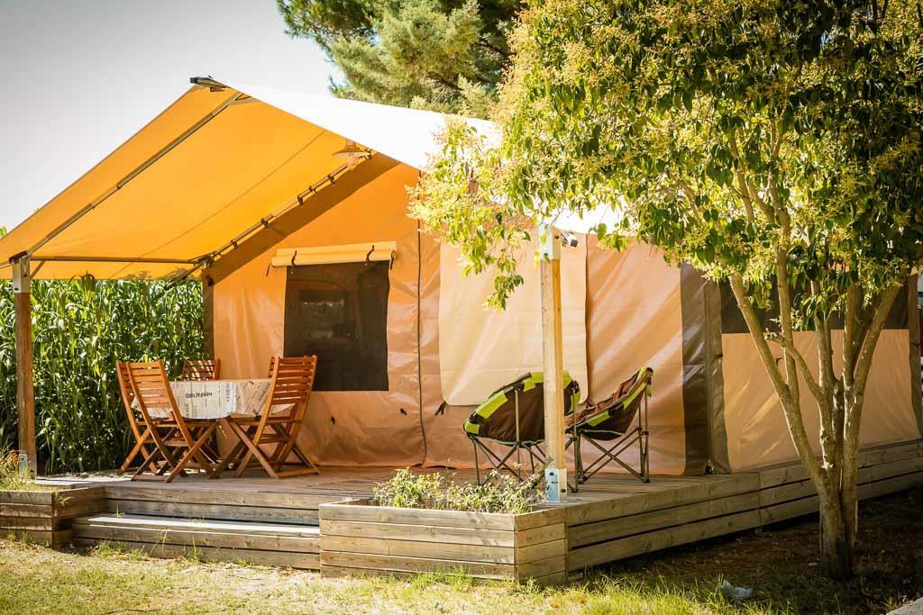 Location - Tente Lodge - Camping Ma Prairie