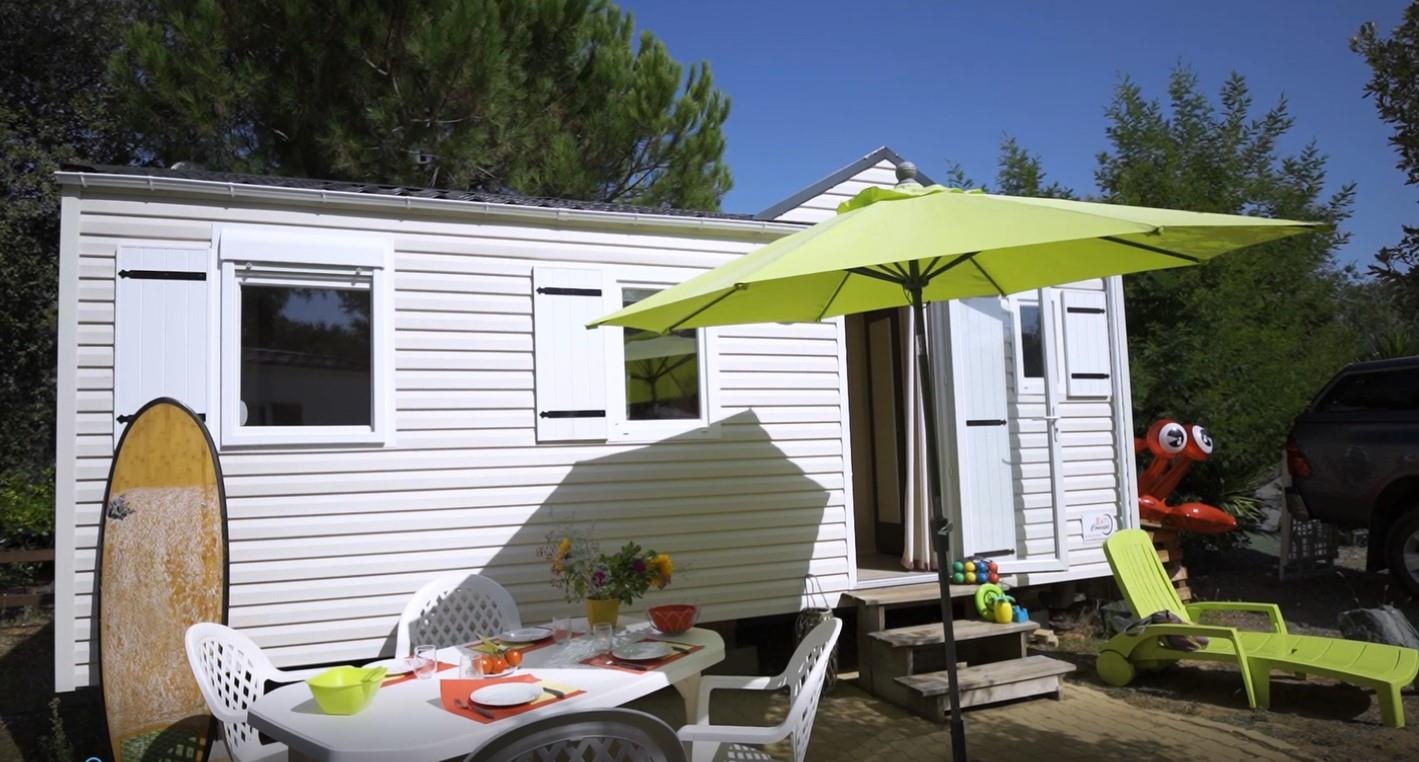 Mietunterkunft - Mobilheim 24M² / 2 Schlafzimmer - Terrasse  2 Adults Or 2 Adults +2 Childrens - Camping l'Ile Blanche